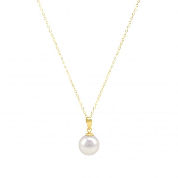 "Kette Collier mit Perlenpendant 18K Gold ""Gabrielle"""